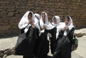Girls uniform distribution in Kabul