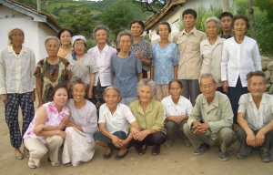 Visiting the home for the old aged at Chungjin, North Korea